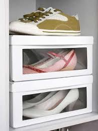 rangement chaussures pas cher dans boîtes de récup