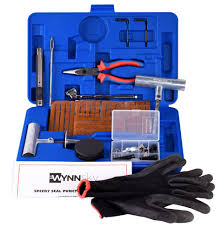 WYNNsky 60 Pieces Tire Repair Tools Kit, Plug Flat And Punctured ...