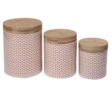 Ceramic Kitchen Canister Sets Honeycomb Ceramic Kitchen Canister Set