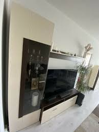 4 teile wohnwand hochglanz sideboard vitrine schrank höffner
