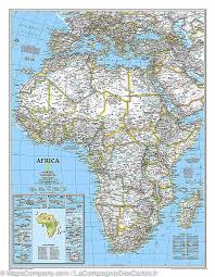 carte murale plastifiée grand format afrique national