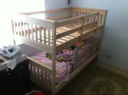 bunk beds ikea mydal stained bunk kit for crib to full size bed