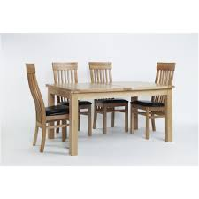 100 6 Oak Dining Table With Chairs Solid Acorn Extending Contemporary