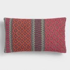 Red Decorative Pillows by Outdoor Throw Pillows U0026 Outdoor Lumbar Pillows World Market