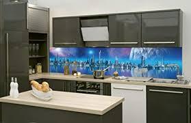dimex line küchenrückwand folie selbstklebend futuristische stadt klebefolie dekofolie spritzschutz für küche premium qualität made in eu
