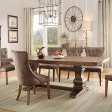 100 Dining Room Chairs With Oak Accents Homelegance Marie Louise Table In Weathered Local