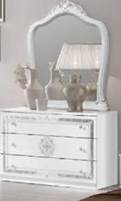 kommode mit spiegel in weiss für schlafzimmer klassik king