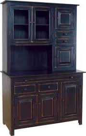 Microwave Hutch Painted In Primitive Heritage Black