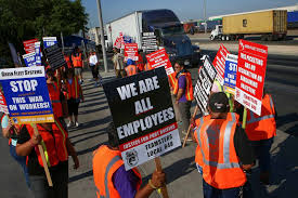 100 Truck Driving Schools In Los Angeles Striking Port Drivers With TPS Threatened By Cancellation To