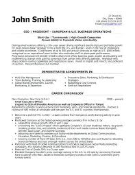 Sample Executive Resume Template For Click Here To Download This President
