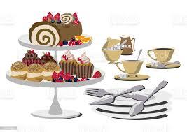 illustration kaffee und kuchen illustration kuchen und bush de noel tischset rollkuchenclipartgrafiken stock vektor und mehr bilder
