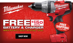 Milwaukee FUEL M12 & M18 FREE Battery and Charger with Bare Tools