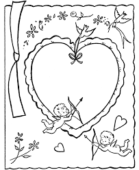 Valentines Day Cards Coloring Pages Printables