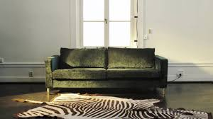 Karlstad 3 Seat Sofa Cover by Elevate Your Ikea Karlstad Sofa With A Velvet Bemz Cover Youtube