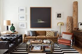 Masculine Apartment Living Room Design Ideas Adorable Beige Feather Carpet Rustic Brick Wall Accent Soft Coffee Table Glass Flower Vase On White Shag