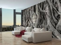 fototapete baum wurzel statue 2 fototapeten tapete wandbild tempel kambodscha schwarz weiß m0783