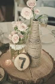 DIY Rustic Wedding Centerpieces Deerpearlflowers Wine