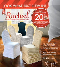 Ruched Chair Covers | EDeals From LinenHero.com - Linen Hero