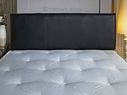 quality faux leather headboard 4ft small double black amazon
