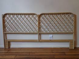 headboard vintage rattan bed henry link king cal king beachy