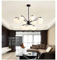 großhandel 220 v 110 v vintage stil designer led schwarz hängen decke kronleuchter beleuchtung lüster le für wohnzimmer küche loft schlafzimmer