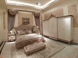 schlafzimmer komplett set königliches barock bett nachttisch bank schrank 5 tlg