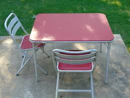 Vintage Child's White Metal Card/ Picnic/ Craft Table And 2 Metal Folding  Chairs With Red Vinyl Top And Seat Fniture History Britannica Bayer Ag Desk With Drawers Polyurethane Rfg 1970s Reserved Samsonite Card Table Fiberboard 1950s Vintage Industrial Swivel Side Chair Set Of Four Brass Ding Chairs By Willy Rizzo Chromcraft Smoked Lucite Dirty Girls Ambesonne 70s Party Tablecloth Music Theme Colorful Stars Flowers Notes Record Vinyl Discography Artwork Print Room Kitchen Rectangular Table Small Drop Leaf Tables 80 For Sale On 1stdibs Sindy Dressing