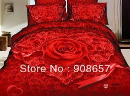 Best Romantic Red Rose Heart Shaped Prints Girl S Bedding Full