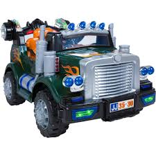12V Ride On Semi Truck Kids W/ Radio, MP3, Lights – Best Choice Products