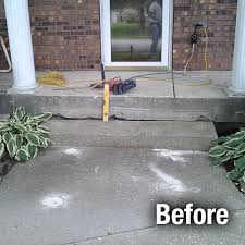 concrete step repair kansas city mo step leveling contractor