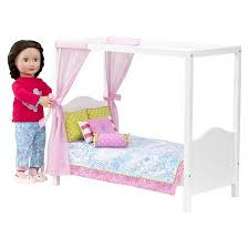 My Sweet Canopy Bed Pink White Our Generation™ Tar