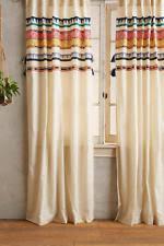 anthropologie 100 cotton curtains drapes valances ebay