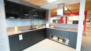 nobilia küche nr k4 1350 touch schwarz matt