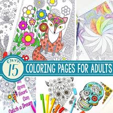 Over 15 Intricate Coloring Pages For Adults