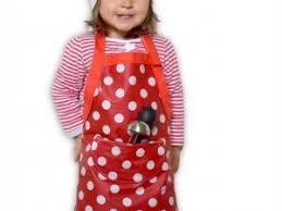 tablier de cuisine enfant tablier de cuisine pour enfant en coton enduit à pois par ptibas