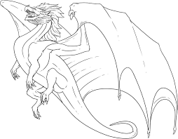 Simple Dragon Coloring Page