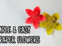 How To Make SIMPLE AND EASY PAPER FLOWER With Colour Paper