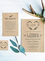 Introduce Your Rustic Wedding With A DIY Template Wreathed In Love Featuring Lush Fern