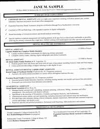 100 Dental Assistant Resume Templates Dentist CRXH S Samples
