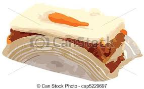 Carrot Cake Slice Vector Illustration
