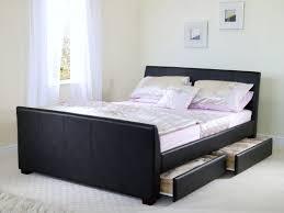 Bedroom Solid Wood Storage Bed Full Size Queen Sleeper Cherry