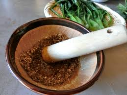 This Is The Beautiful Part Of Cooking While Grinding Sesame Seeds You Can Enjoy Nice Feeling And Sounds As Well Smell