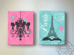 Eiffel Tower Chandelier Paris Bedroom Decor Girls Room