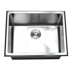 23 inch undermount drop in stainless steel single bowl kitchen