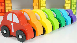 learn colors and number with garage cars wooden toys learn colors