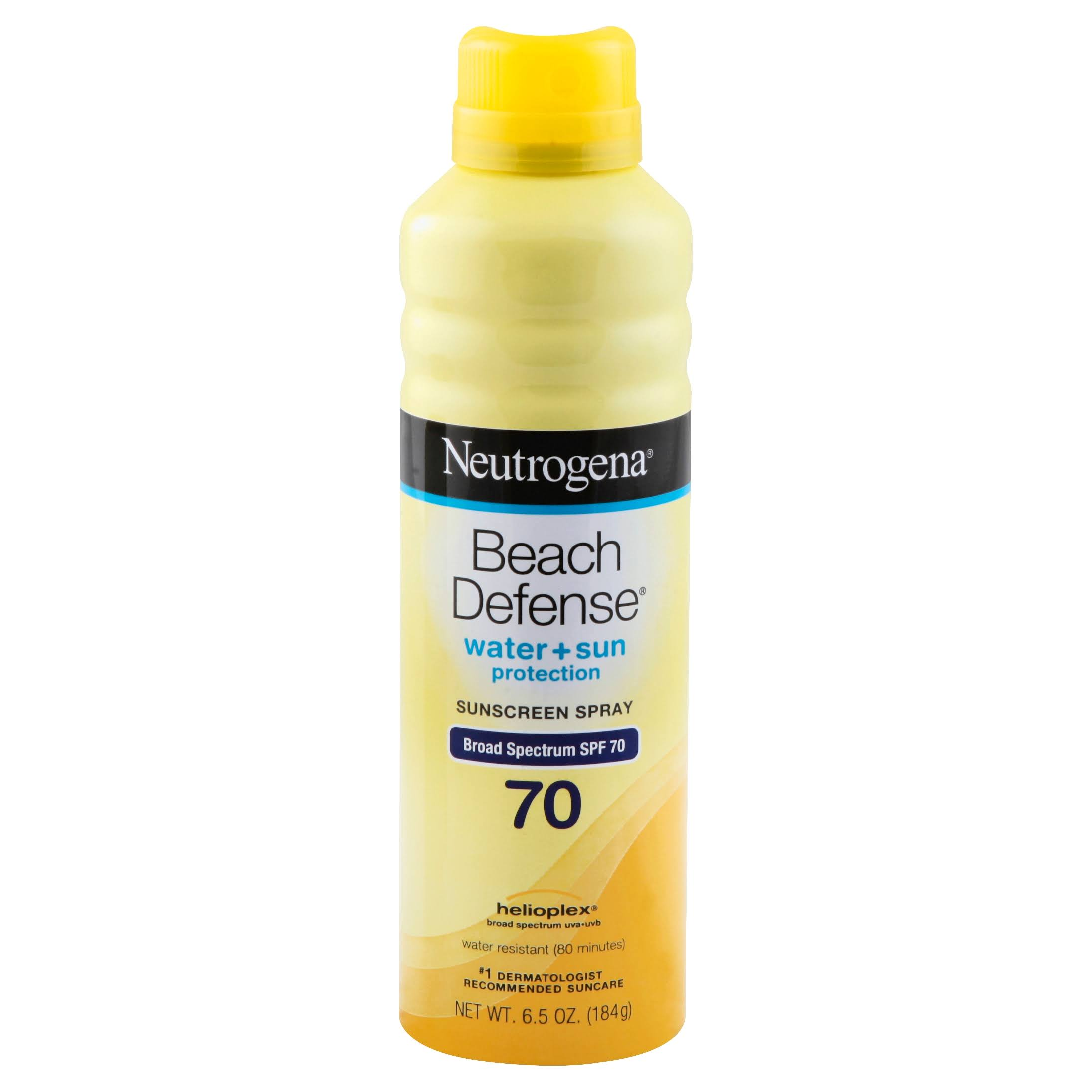 Neutrogena Beach Defense Sunscreen Spray Broad Spectrum - SPF 70, 6.5oz