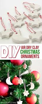 Air Dry Clay Christmas Decorations Tutorial