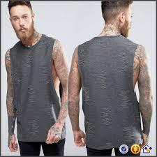 ky wholesale men crew neck drop armholes custom plain design
