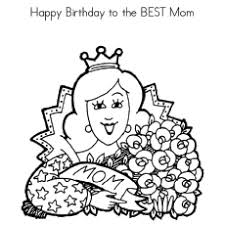 Birthday Wishes For Mommy Coloring Pages