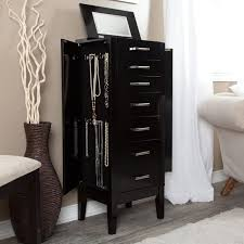 Belham Living Hadley Floor Jewelry Armoire - High Gloss Black ... Amazoncom Linon Home Decor Deanna Jewelry Armoire Kitchen 25 Beautiful Black Armoires Zen Mchandiser Fniture Mirrored Build In The Wall Over The Minimalist Bedroom With Full Length Mirror Design Chest White Under 100 Organizedlife Cabinet Therapy Armoirefr6364 Depot Landry Antiqued Lacquer Hives And Honey Deluxe Walmart Soappculturecom Charming Cheval Ideas Decators Collection Armoire565210